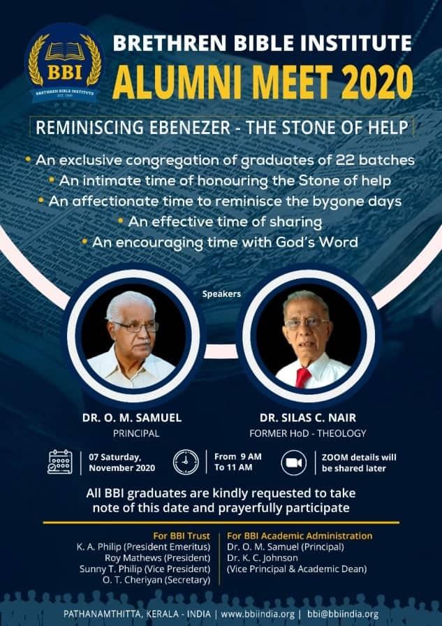 BRETHREN BIBLE INSTITUTE – ALUMNI MEET 2020